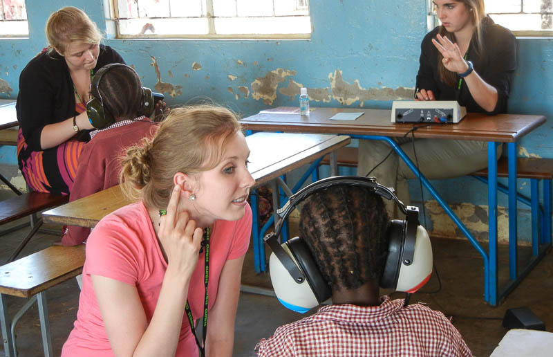 In zambia at work with screenings